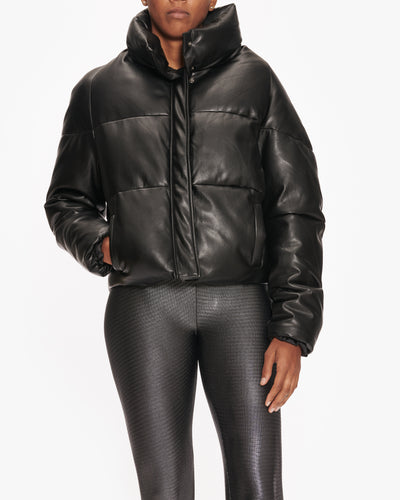 APPARIS JEMMA VEGAN LEATHER PUFFER