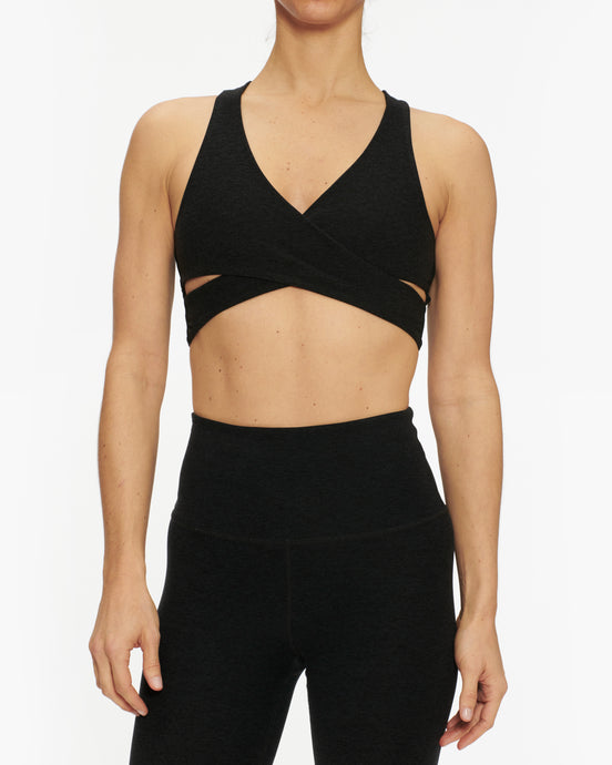 BEYOND YOGA SPACEDYE THAT'S A WRAP CROPPED TANK TOP