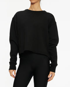 SUNDRY CROPPED RAW SWEATSHIRT