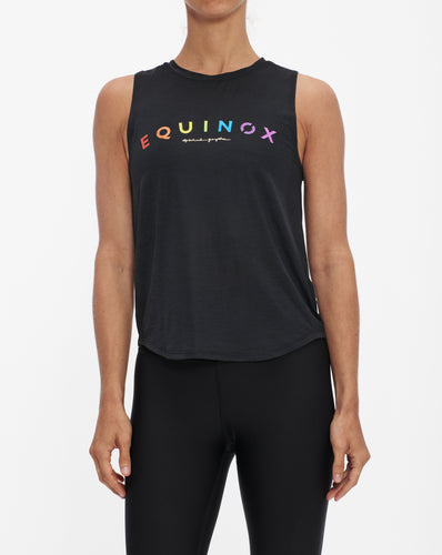 SPIRITUAL GANGSTER EQUINOX PRIDE ACTIVE MUSCLE TANK