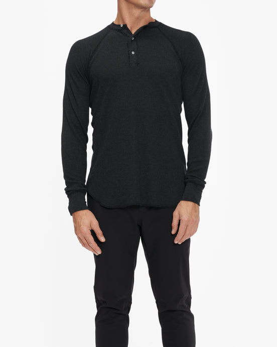 R&R SURPLUS LONG SLEEVE THERMAL HENLEY