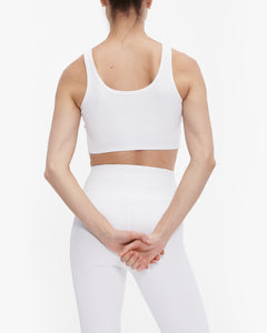 YEAR OF OURS RIBBED FOOTBALL BRA WHITE