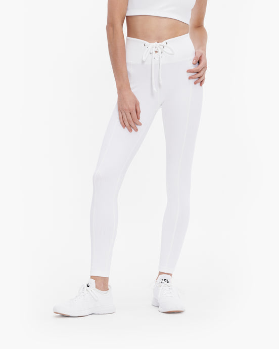 YEAR OF OURS RIBBED FOOTBALL LEGGING WHITE