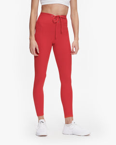 YEAR OF OURS RIBBED FOOTBALL LEGGING RED
