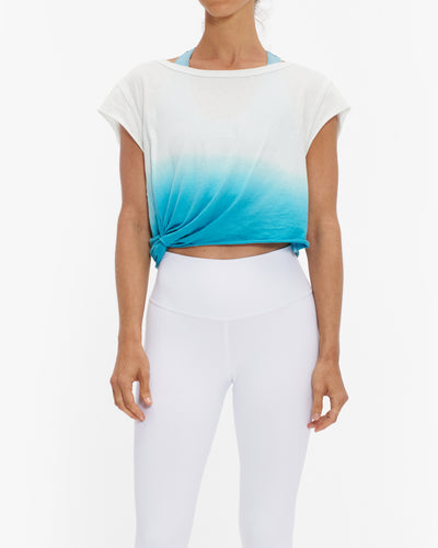 FREE PEOPLE FP MOVEMENT HOLD IT DOWN DIP DYE TEE