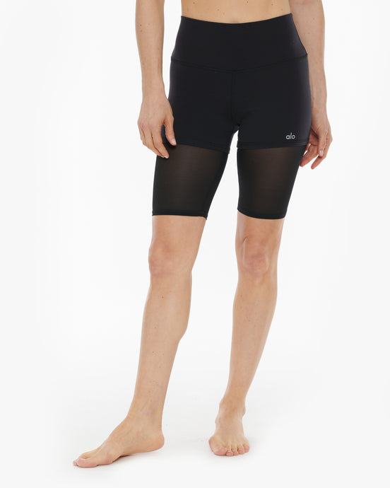 ALO YOGA HIGH WAIST LAVISH BIKER SHORT