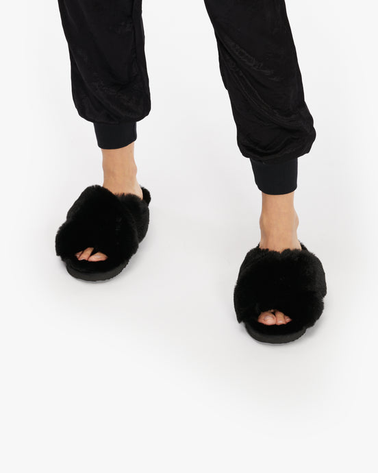 APPARIS ELSA FAUX FUR SLIPPERS