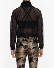 Load image into Gallery viewer, KORAL PUMP OPEN MESH PULLOVER BLACK
