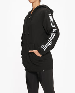 EQUINOX COMMIT TO SOMETHING ZIP-UP HOODIE BLACK