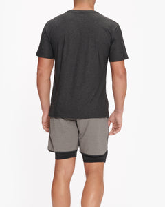 VUORI STRATO TECH TEE CHARCOAL HEATHER