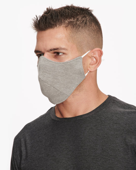 WHEELERS.V FACE MASK GREY HEATHER