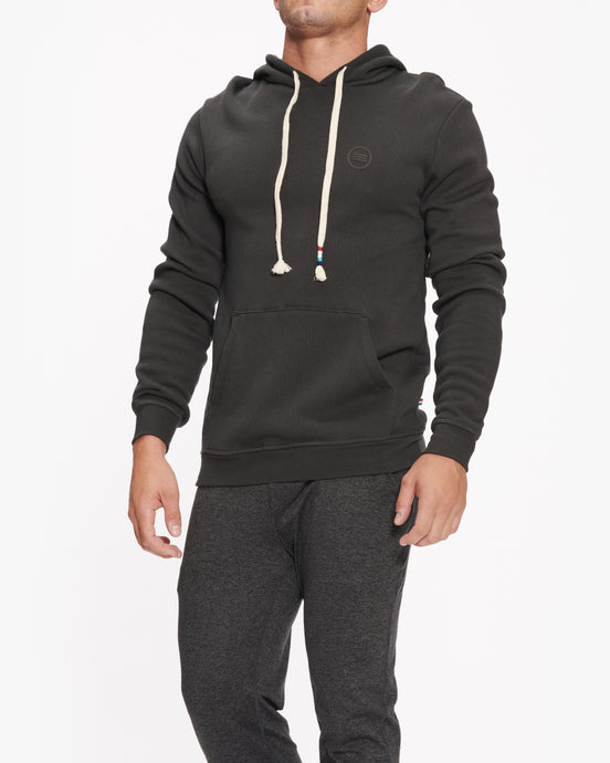 SOL ANGELES WHITE PALM HOODIE BLACK