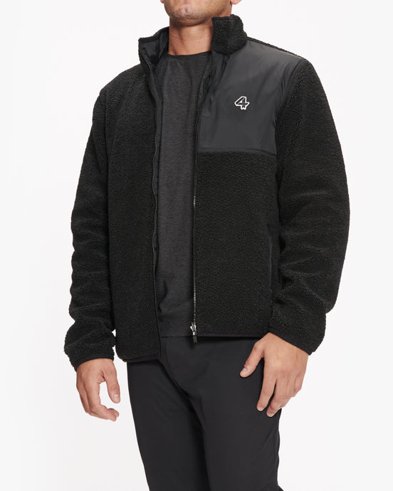 FOURLAPS LEAD REVERSIBLE SHERPA JACKET BLACK