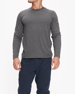 JASON SCOTT DOUBLE LAYER LONG SLEEVE HEATHER CHARCOAL