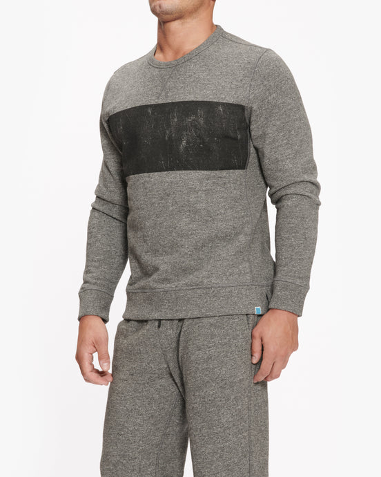 JASON SCOTT DISTRESSED CREW HEATHER GREY