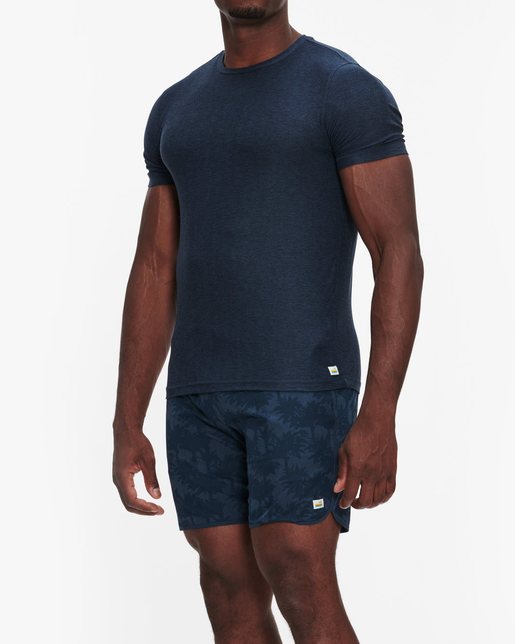 VUORI STRATO TECH TEE NAVY HEATHER