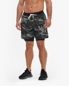 "VUORI STOCKTON SHORT 6.5"" - LINED - GREY CAMO"