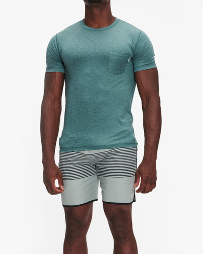 VUORI TRADEWIND PERFORMANCE TEE PALM HEATHER