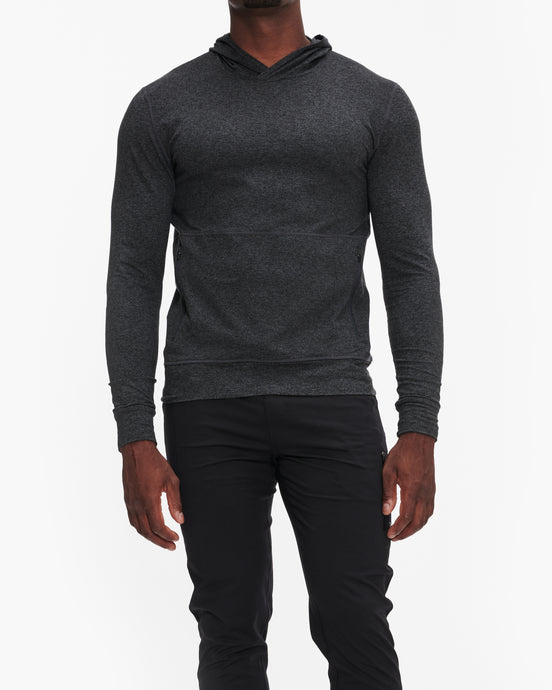 VUORI PONTO PERFORMANCE PULLOVER CHARCOAL HEATHER