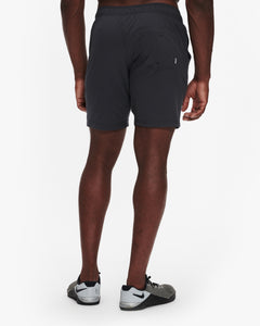 "VUORI KORE SHORT 7.5"" - LINED - CHARCOAL"