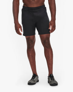"RHONE SWIFT SHORT 7"" - LINED - BLACK"