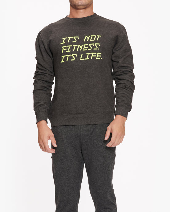 EQUINOX IT'S NOT FITNESS IT'S LIFE CREWNECK SWEATSHIRT charcoal