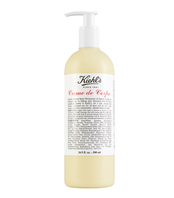 KIEHL'S CREME DE CORPS BODY LOTION 16.9 oz.