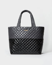 Load image into Gallery viewer, MZ WALLACE MEDIUM METRO TOTE BAG MAGNET BLACK LACQUER