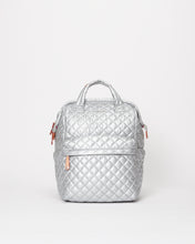 Load image into Gallery viewer, MZ WALLACE TOP HANDLE BACKPACK BAG TIN METALLIC