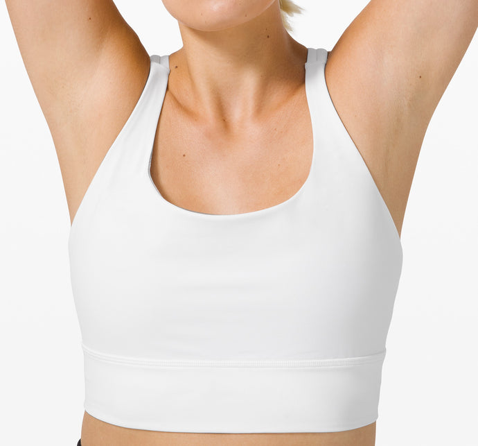 LULULEMON ENERGY BRA LONG LINE WHITE