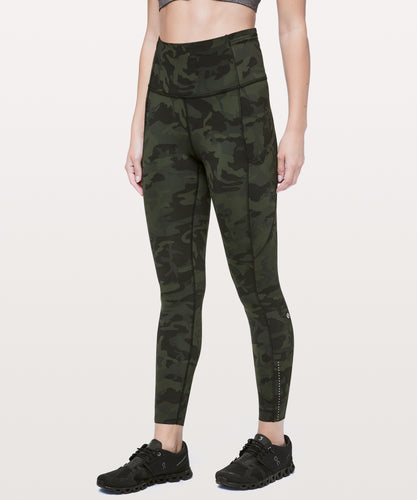 LULULEMON FAST AND FREE HIGH RISE 7/8 TIGHT - REFLECTIVE - INCOGNITO CAMO