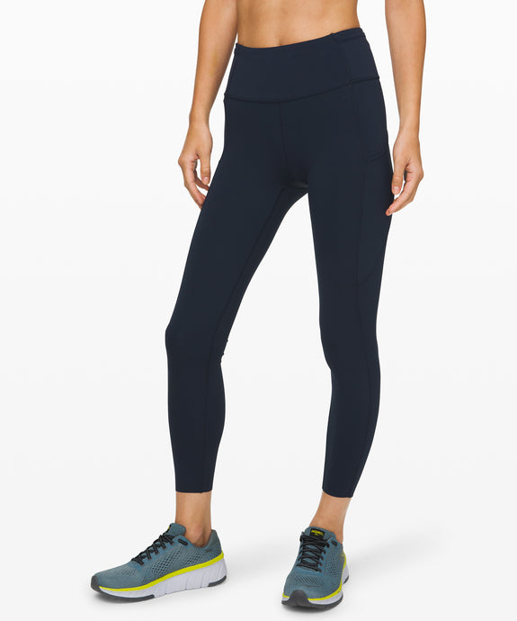 LULULEMON FAST AND FREE HIGH RISE 7/8 TIGHT - NON REFLECTIVE - TRUE NAVY