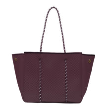 Load image into Gallery viewer, ANNABEL INGALL SPORTY SPICE NEOPRENE TOTE BAG mulberry