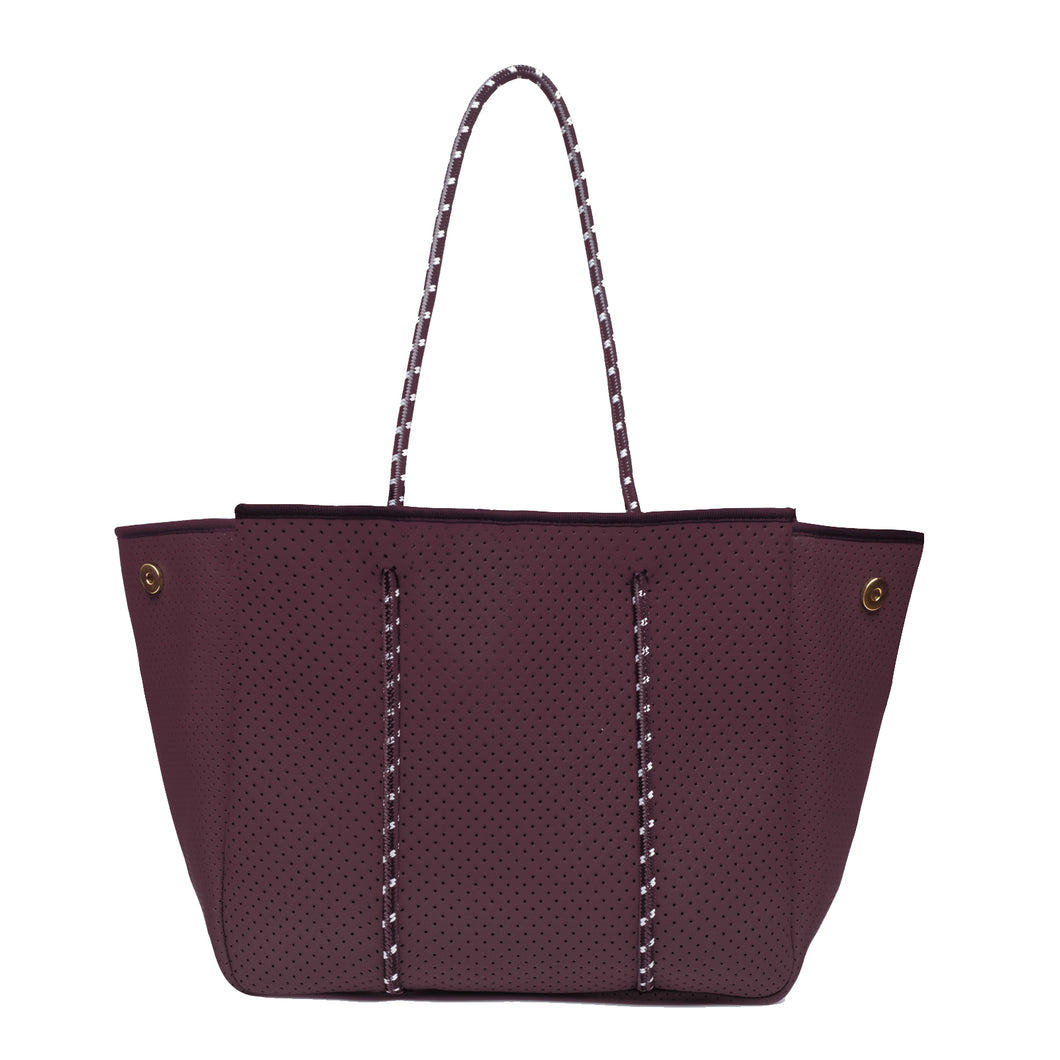 ANNABEL INGALL SPORTY SPICE NEOPRENE TOTE BAG mulberry