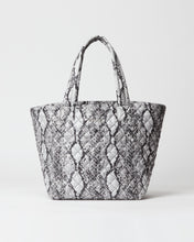 Load image into Gallery viewer, MZ WALLACE MEDIUM METRO TOTE BAG GREY SNAKE OXFORD