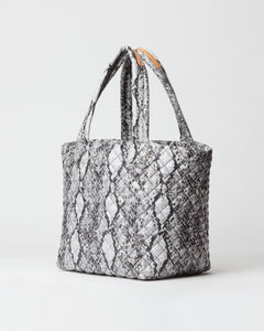 MZ WALLACE MEDIUM METRO TOTE BAG GREY SNAKE OXFORD