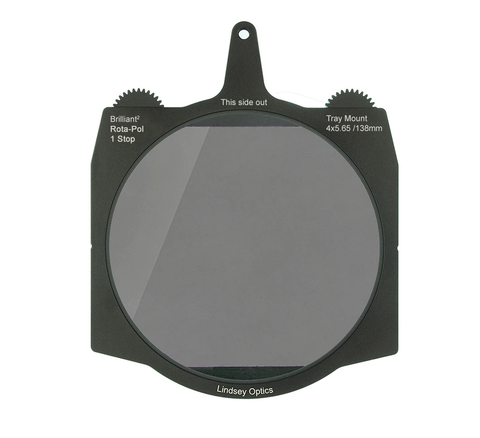 "Lindsey Optics Brilliant² 1 Stop Rota-Pol Circular Polarizer 4x5.65"" / 138mm"
