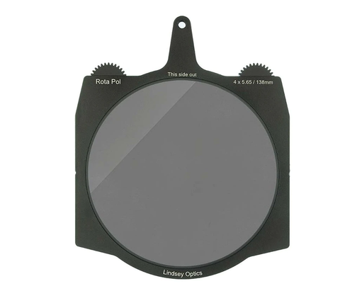 "Lindsey Optics 138mm Brilliant2 Rota-Pol Circular Polarizer for 4x5.65"" Cine Matte Boxes"