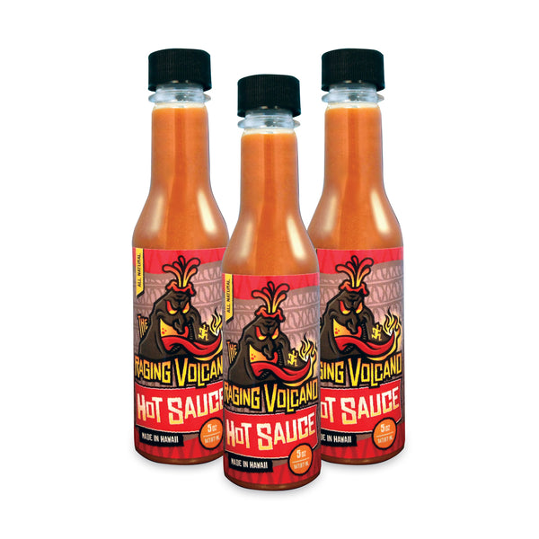 The Raging Volcano Hot Sauce 5oz Bottle