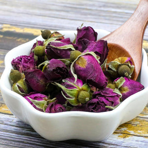 2020 Chinese Tea Purple Rosebud Rose Buds Dried Flower Floral Herbal Green Food for Health Care