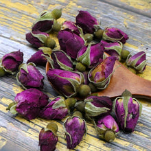 Load image into Gallery viewer, 2020 Chinese Tea Purple Rosebud Rose Buds Dried Flower Floral Herbal Green Food for Health Care