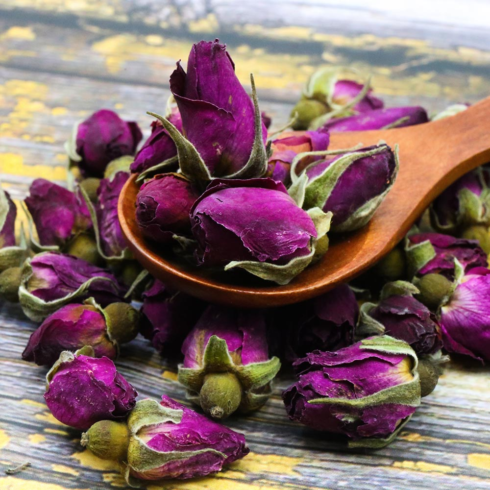 2019 Chinese Tea Purple Rosebud Rose Buds Dried Flower Floral Herbal Green Food for Health Care