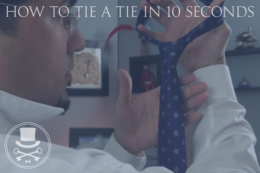 The fastest way to tie a tie| 10 seconds or less
