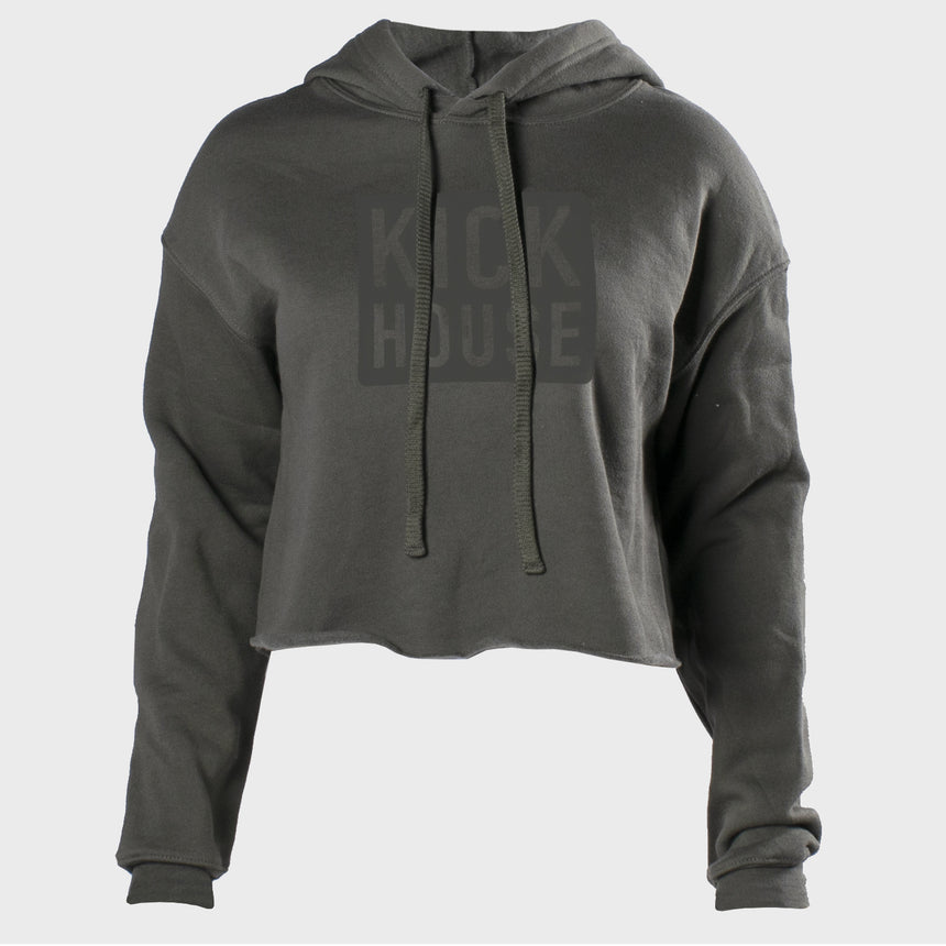 Stacked Logo Women's Cropped Hoodie