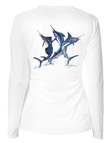 Women's V-neck Marlin Trio Performance Shirt