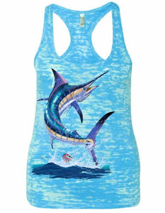 Women's Marlin Burnout Racerback Tank