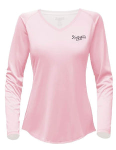 Women's V-neck Pencil Redfish Performance shirt