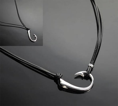 2 in 1 Sterling Silver Lg Hook Necklace