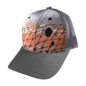 Grey Redfish Scale Snapback Hat - KnottyTails