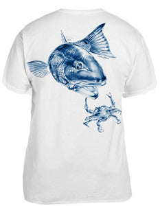 Men's Redfish & Crab Crew Neck Tee